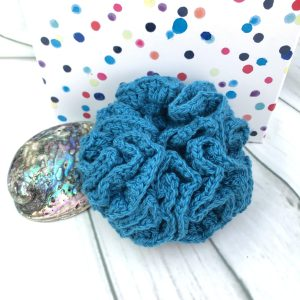 Turquoise Reusable Shower Scrunchie