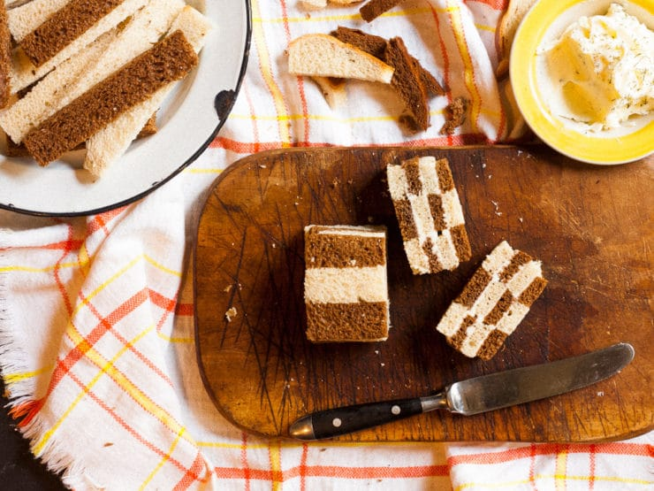 Very Fancy Sandwiches  Vintage Checkerboard Recipe