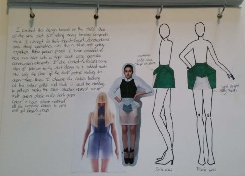 More fashion garment ideas looking at imagery for inspiration.