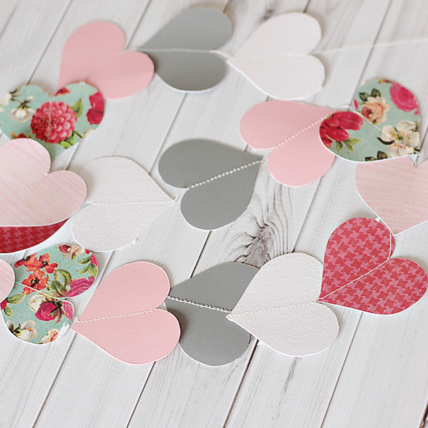 How to Make Your Own Heart Paper Garland + Template | Tori Grant Designs