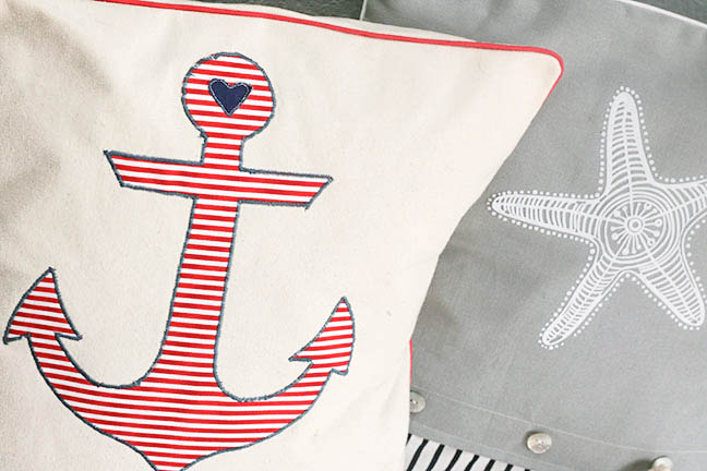 Anchor Pillow and Starfish Pillow | Lil Mrs Tori