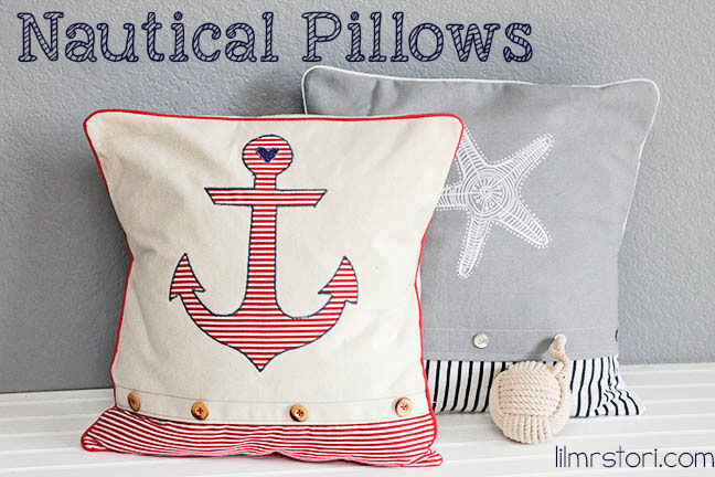 Make Your Own Anchor Pillow | Lil Mrs Tori