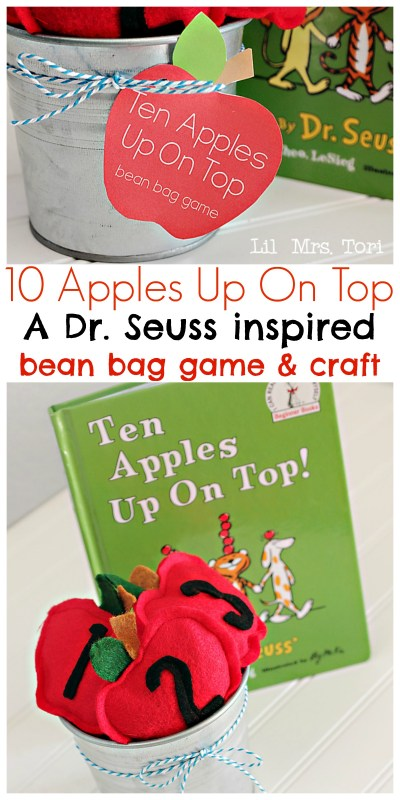 Felt Apple Bean Bags + Template | Lil' Mrs. Tori