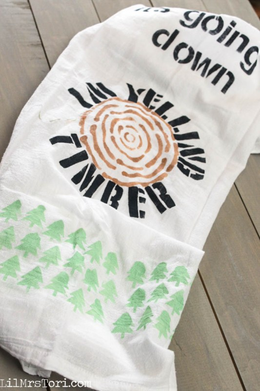Timber Kitchen Towel | Lil Mrs. Tori