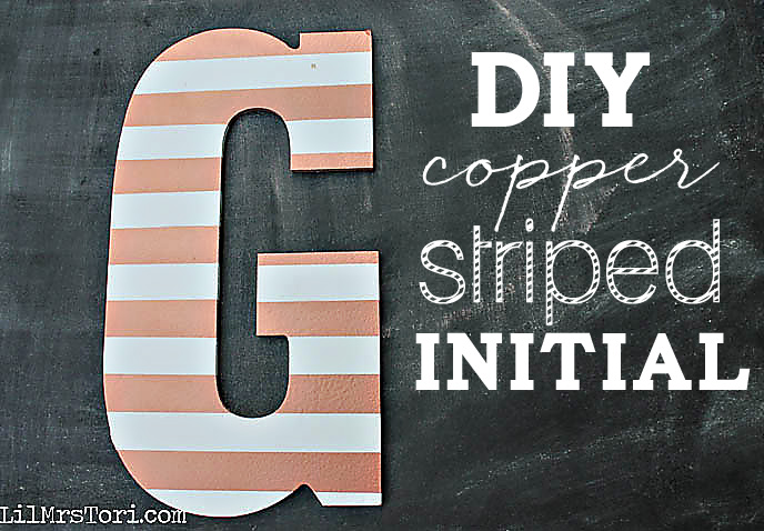 Copper Initial DIY Art | Lil Mrs. Tori
