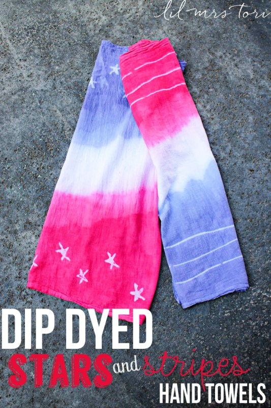 Dip Dyes Stars and Stripes Hand Towels