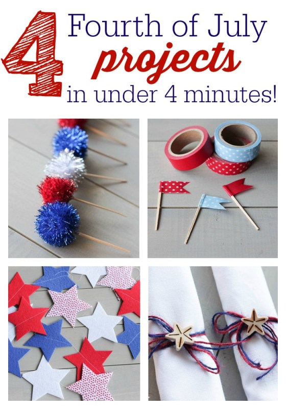 4 Fourth of July Projects in under 4 Minutes! Lil Mrs Tori