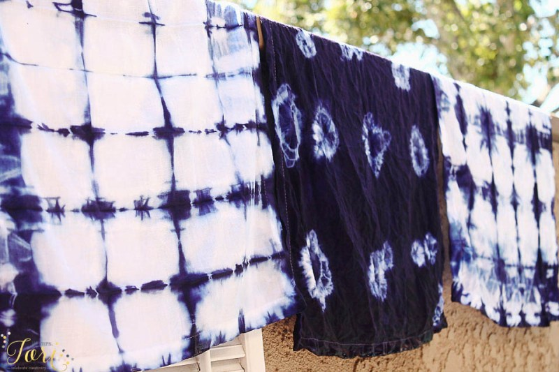 Shibori Technique Dinner Napkins