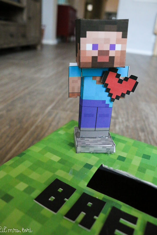 Astounding image within minecraft valentine box printable