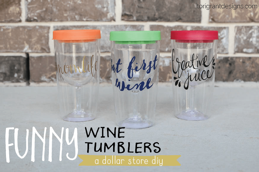 Funny Wine Glass Tumblers