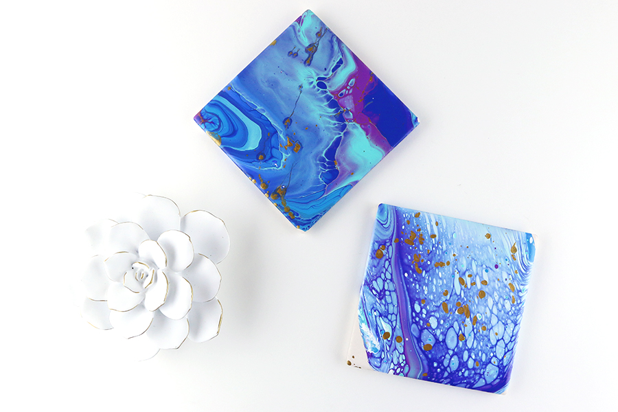 Paint Pour Coasters & Tips I learned along the way