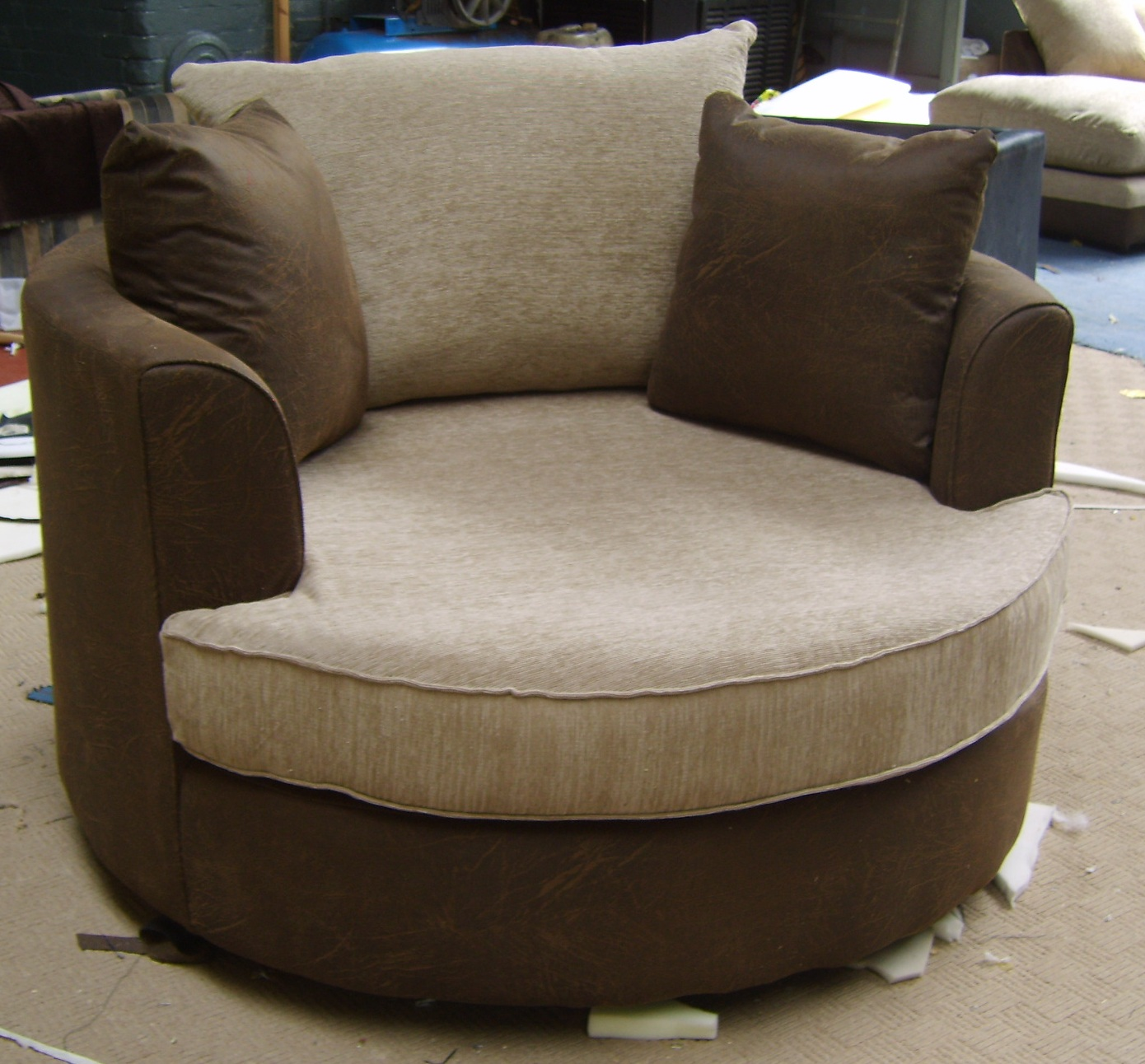 Round Comfy Chair Funky Reading Time Tori L Ridgewood