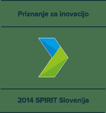 Priznanje za inovacijo - 2014 SPIRIT Slovenija