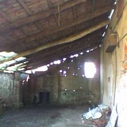 La tettoia posteriore prima del recupero
