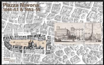 ナヴォーナ広場: ムーア人の噴水、四大河の噴水