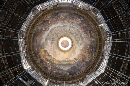 Torino, la cupola restaurata della Chiesa della Trinità.-6569