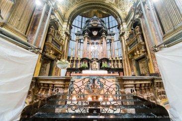 Torino, la cupola restaurata della Chiesa della Trinità.-6604