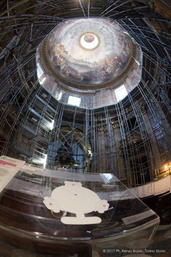 Torino, la cupola restaurata della Chiesa della Trinità.-6685