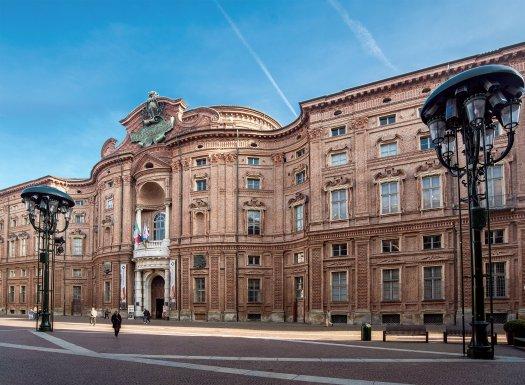 La facciata di Palazzo carignano