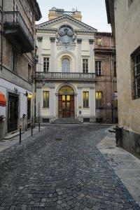 La facciata del Real Collegio Carlo Alberto