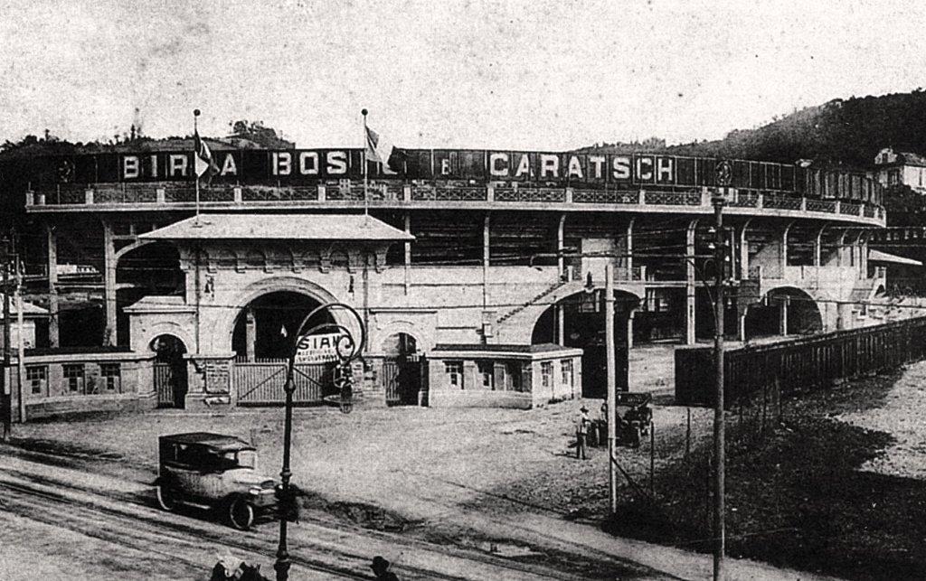 Motovelodromo, immagine antica, esterno