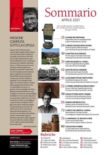 Torino Storia 58, Aprile 2021, sommario