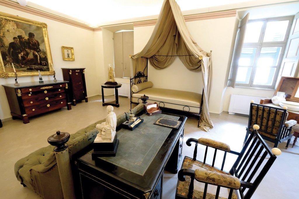 Memoriale Cavour, stanza da letto