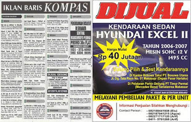 Contoh Iklan Lowongan Kerja di Koran