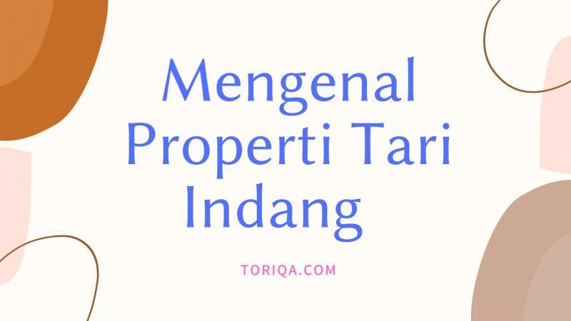 Mengenal properti Tari Indang