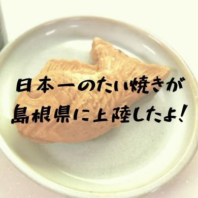斐川の日本一たい焼島根出雲縁結び店|あんこにこだわるまさに日本一のたい焼きだった|松江市宍道町