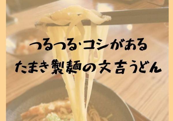 ツルツルでコシがある!玉木製麺の文吉うどん|麦笛たまき浜乃木店