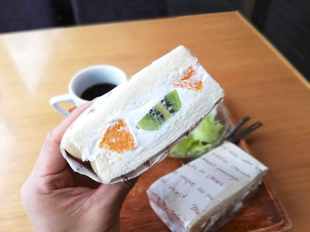 scarab136・お茶屋さんのフルーツサンドモーニング|松江市学園南