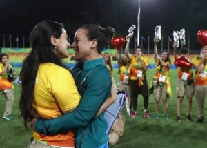 Olympian proposes to girlfriend