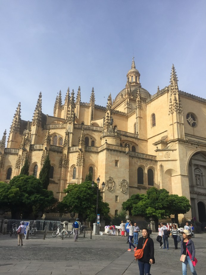 Plaza Mayor; gothic-style cathedral made out of limestone, took over 160 years to build by locals