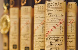 各生徒が作ったワインは教授陣によって評価される