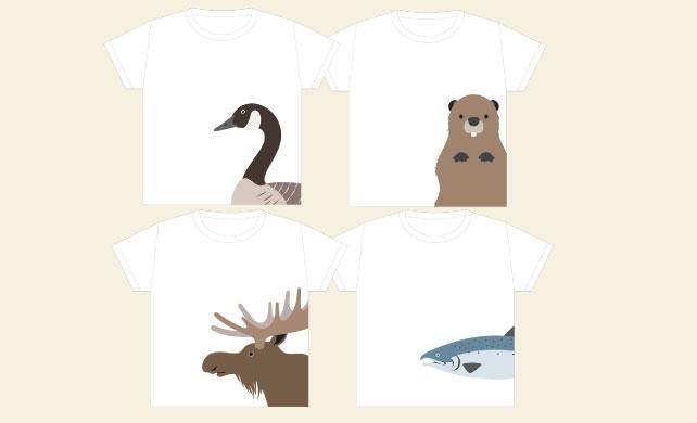 子供服トロント初上陸 カナダ限定プリントTシャツに注目!!子供プリントTシャツ 各$19