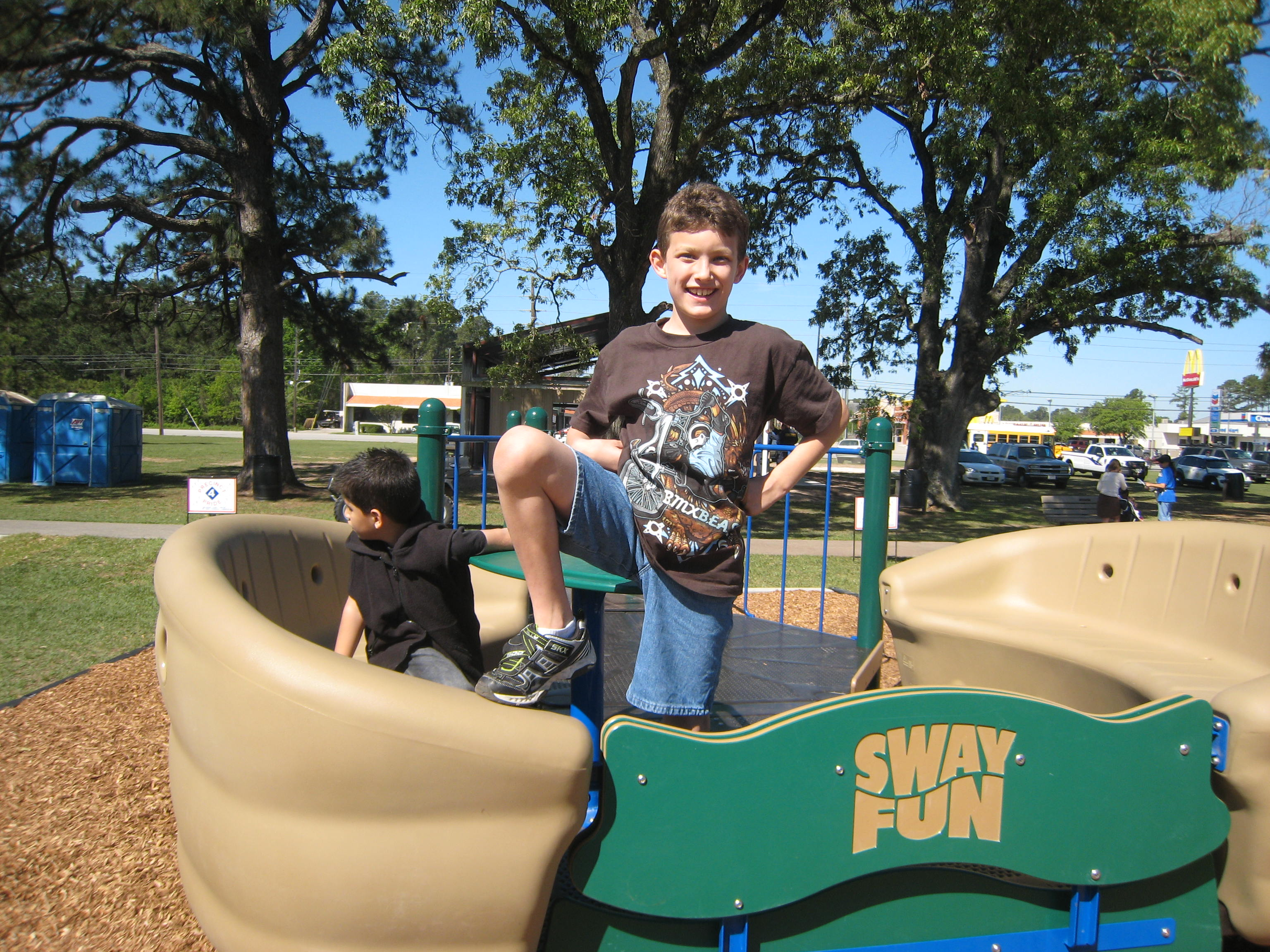 """This student from Matzke Elementary told me, """"This is the best playground ever."""""""