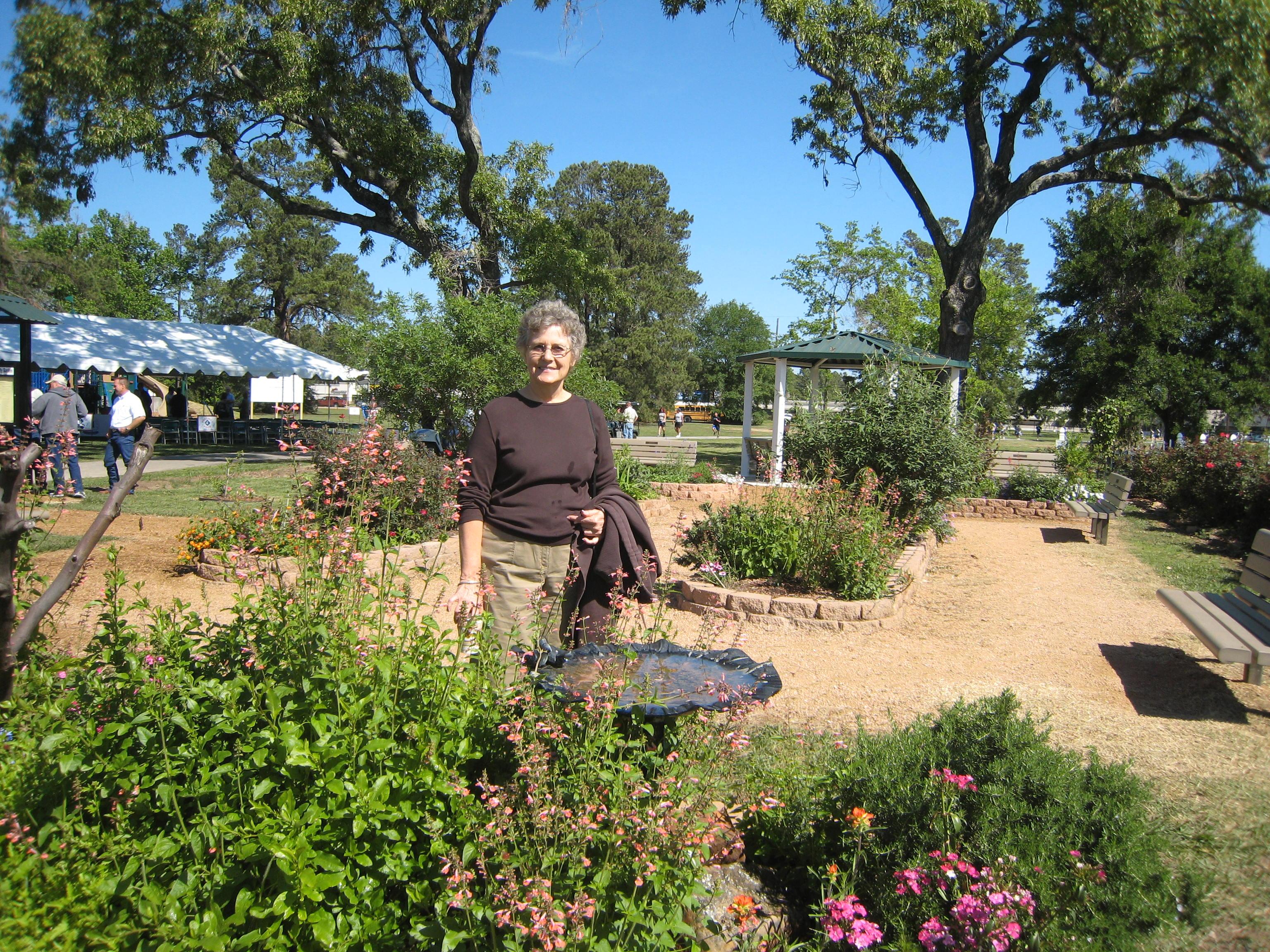 Carol Bennett and the Butterfly Garden at Matzke Park.