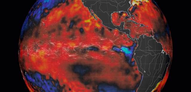 Anomalias de Temperatura en el Oceano Pacifico Abril 2016