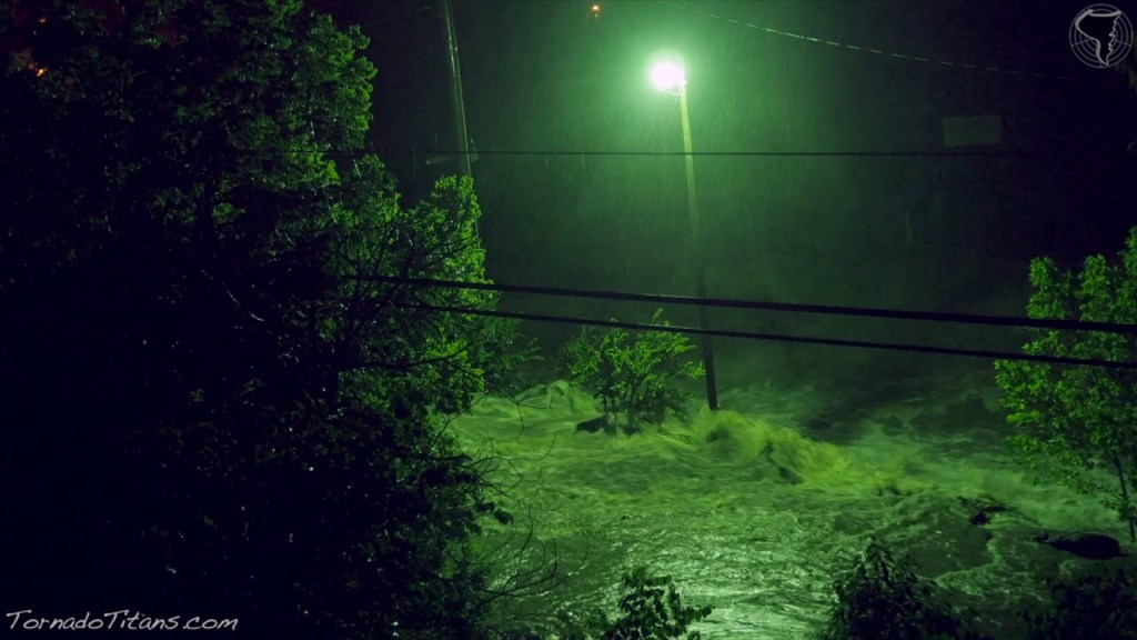 June 17, 2015 Storm Chase   Extreme Flash Flooding at Turner Falls From Tropical Depression Bill!