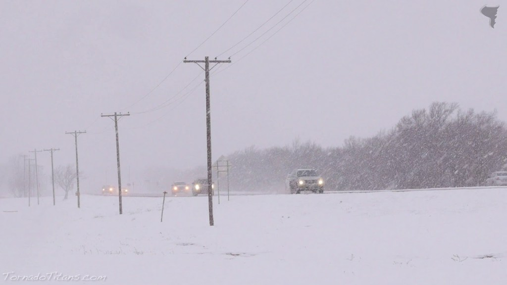 December 27, 2014 Storm Chase | Heavy OKC Snow
