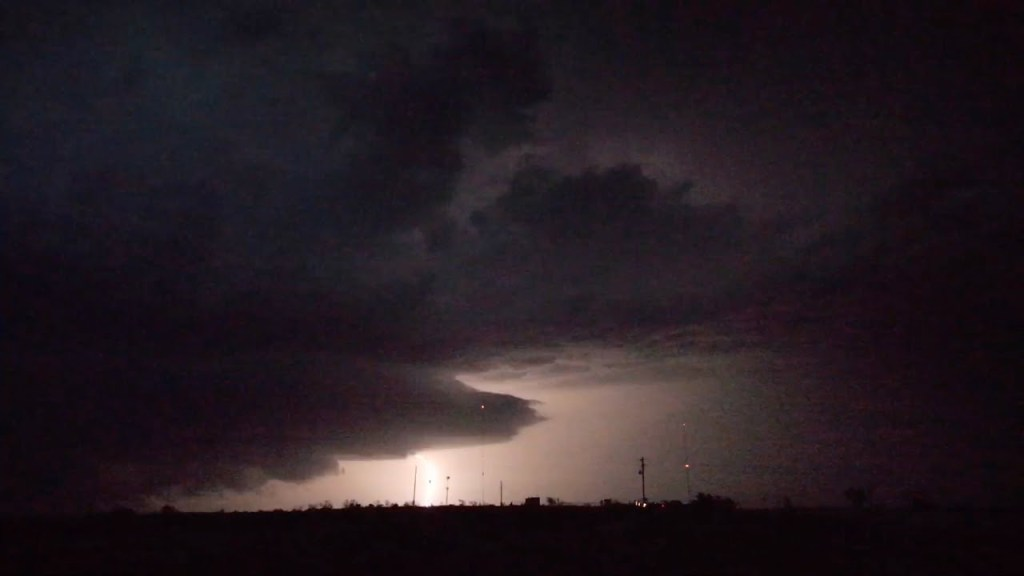 June 22, 2014 Storm Chase | Insane Lightning near Canadian, TX