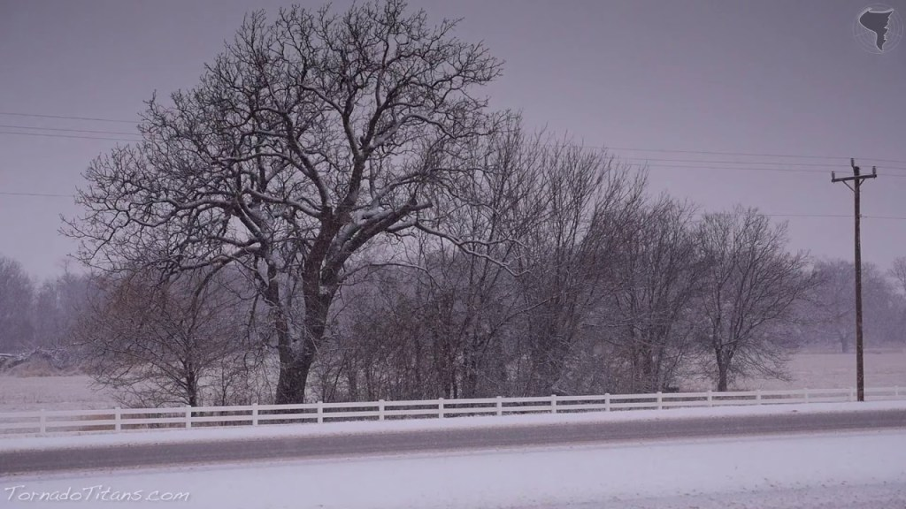 February 4, 2014 Storm Chase | Heavy Snow in Oklahoma