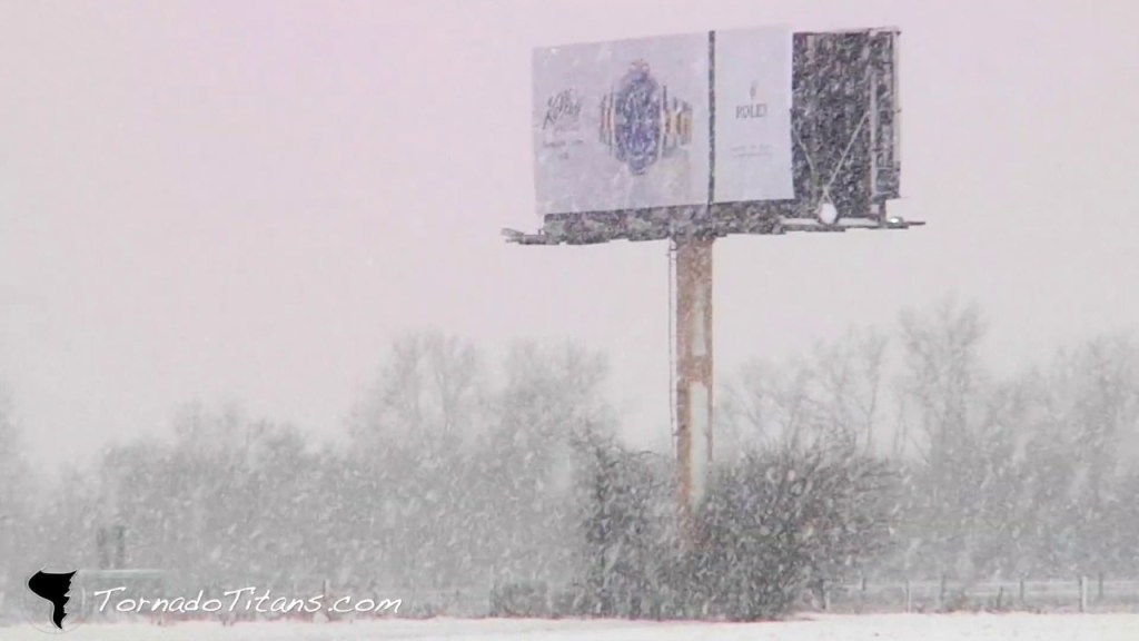February 12, 2013 Storm Chase | Snowstorm Across Oklahoma