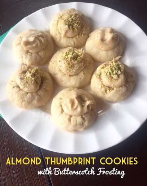 Almond Thumbprint Cookies