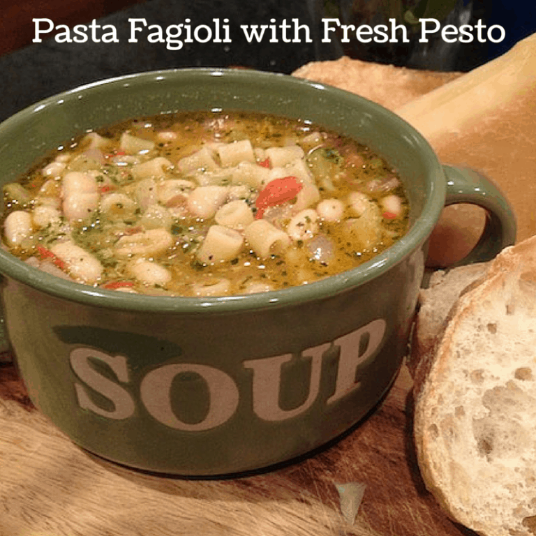 Pasta-Fagioli-with-Fresh-Pesto