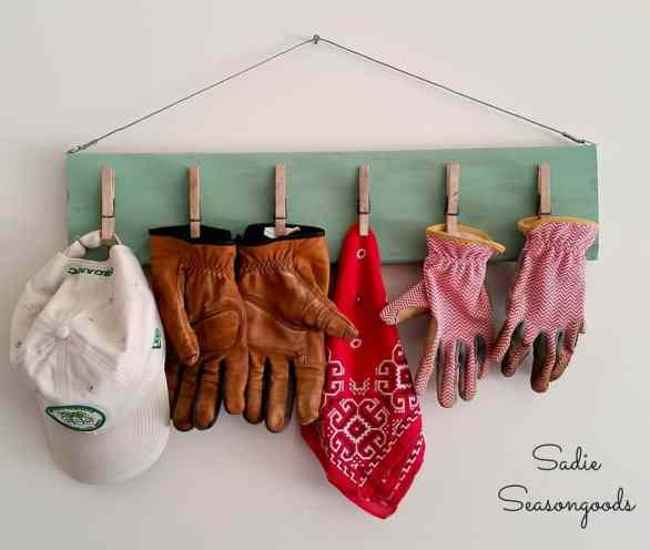 9_salvaged_wood_vintage_clothespin_gardening_glove_clip_board_organizer_Sadie_Seasongoods