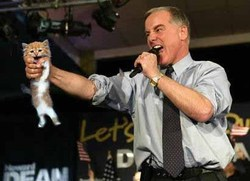 DNC Head Howard Dean Demonstrates a Partial Birth Abortion Procedure on a Cat