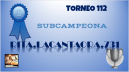 T112 DIPLOMA SUBCAMPEONA