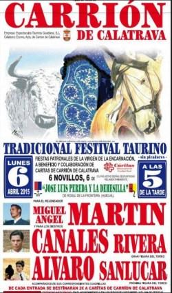 carriondecalatrava-cartel-toros-festivaltaurino-6abril2015